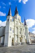 Beautiful saint louis cathedral in the french quarter in new orleans, louisia Stock Photos