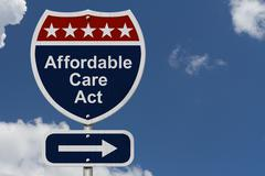 affordable care act sign - stock photo