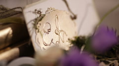 Initials newlyweds Stock Footage