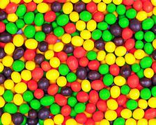 multicolored candies for use as background. - stock photo