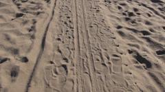 Wooden path on sea resort coast Stock Footage