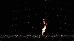 Lights effects and fire, xmas, night Stock Footage