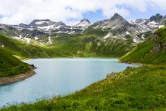 Vannino lake, formazza valley Stock Photos