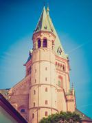 Stock Photo of Retro look Mainz Cathedral
