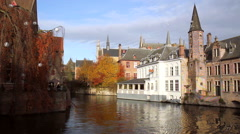 Canals of Bruges (Brugge). Stock Footage