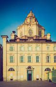 Stock Photo of Retro look San Lorenzo church, Turin