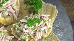 Homemae meat salad (seamless loopable) Stock Footage