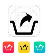 Remove from basket icon. - stock illustration