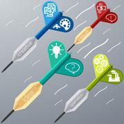 business target marketing dart idea creative - stock illustration