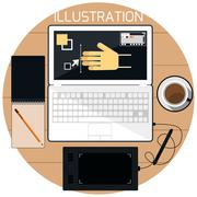 web design concept - stock illustration
