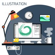 Web design concept Stock Illustration