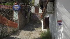 Ephesus Turkey Sirince village restaurant alley 4K 053 Stock Footage
