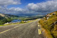 Mountain road in Ireland, Europe Stock Photos
