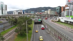 bogota, colombia cityscape and traffic scene - stock footage