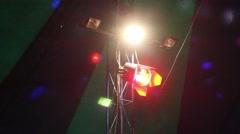 Spotlight and flickering lights 5 - stock footage