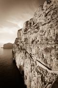 neptune grotto in sardinia, italy - stock photo