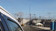 Stock Video Footage of Panama Canal Expansion Project - Approach Viewed from Truck Window