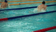 Swimming breaststroke Stock Footage