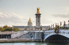 alexander iii bridge in paris - stock photo