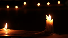 Candles on Indian streets during the festival of Deepavali Stock Footage