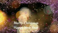 Happy New Year and Merry Christmas 2 Stock Footage