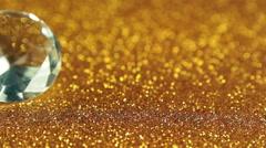 diamonds on glitter - stock footage
