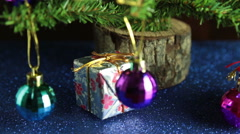 baubles on Christmas tree - stock footage