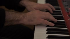 close up of a piano player in action - stock footage