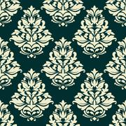 Stock Illustration of off white gothic floral pattern for background