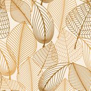 Attractive see through brown leaves Stock Illustration