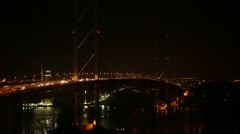 FORTH ROAD BRIDGE AT NIGHT Stock Footage