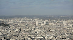Aerial introduction shot of the Sacre coeur Stock Footage