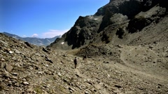 Hiking in the Alps Stock Footage