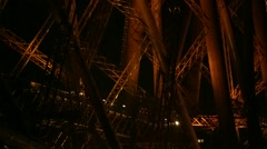 FORTH RAIL BRIDGE AT NIGHT Stock Footage