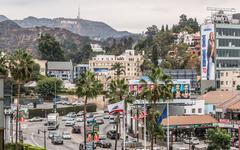 Highland Hollywood Overcast Day Stock Photos