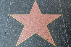 Hollywood Walk of Fame Blank Star - stock photo