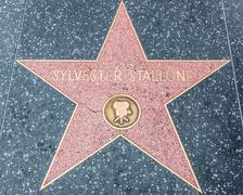 Sylvester Stallone Star on the Hollywood Walk of Fame - stock photo