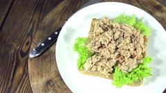 Seamless loopable tuna sandwich Stock Footage