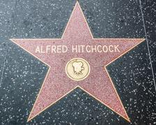 Alfred Hitchcock Star on the Hollywood Walk of Fame - stock photo