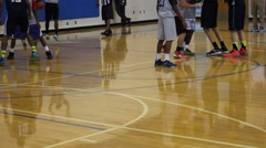 Basketball team during a play Stock Footage