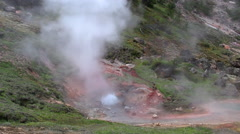 141130e paint pots yellowstone Stock Footage