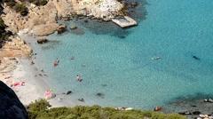 Pristine cove Villasimius Sardinia Stock Footage