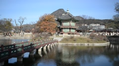 Temples with Traditional Architecture, Seoul Korea Stock Footage