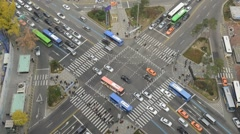 Timelapse Traffic Motion Concept, Seoul Korea Stock Footage