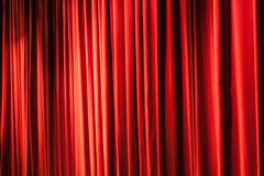 Classic red curtain Stock Photos