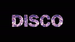 Disco Only Text with Alpha Matte Stock Footage