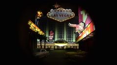 Diorama Las Vegas Stock Footage