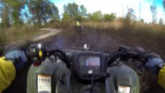 GoPro ATV Mudding POV Stock Footage