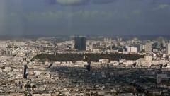 Overview shot of the cemetary Pere Lachaise in Paris Stock Footage