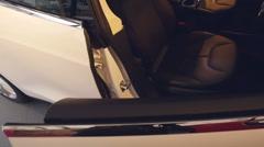 Tesla Model S door closing Stock Footage